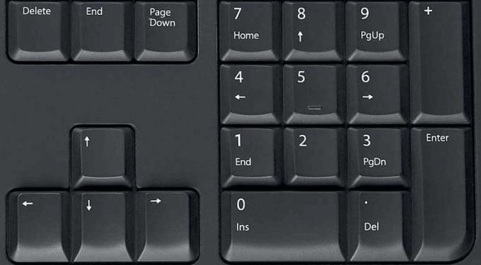 Как сделать чтобы в ноутбуке цифры 6